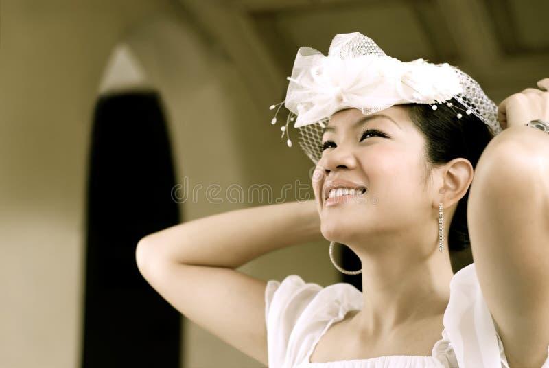 Uma noiva feliz imagens de stock royalty free
