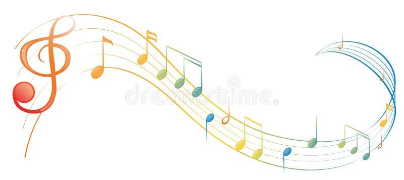 Uma nota da música ilustração stock