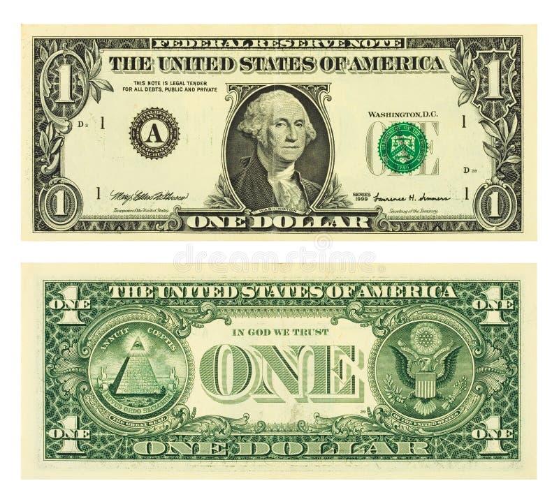 Uma nota de banco do dólar imagens de stock