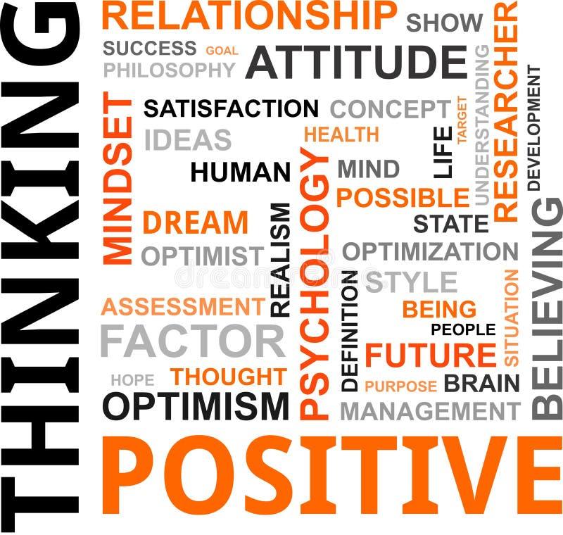 Nuvem da palavra - pensamento positivo ilustração royalty free
