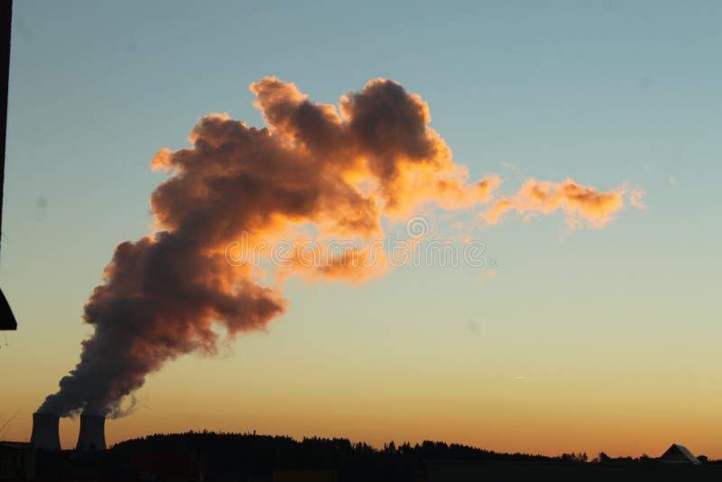 Uma nuvem do vapor foto de stock royalty free