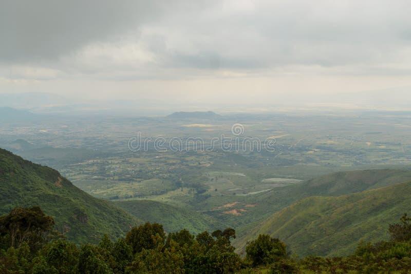 Uma opinião aérea Rift Valley imagem de stock royalty free
