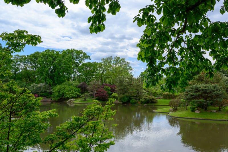 Uma opini?o da paisagem do jardim japon?s foto de stock royalty free