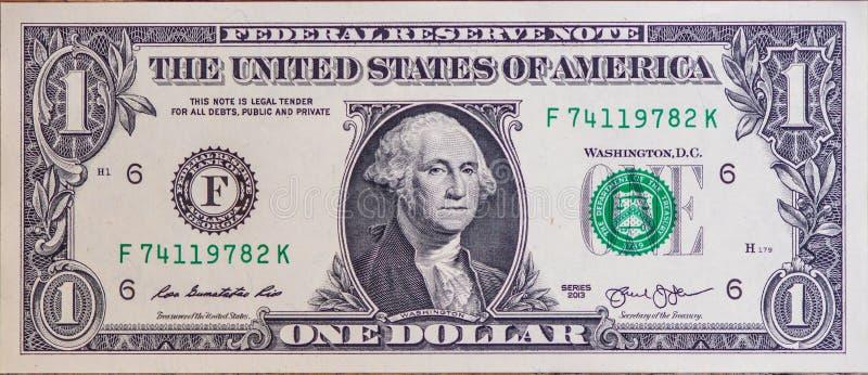 Uma opinião do close up da nota de dólar imagem de stock