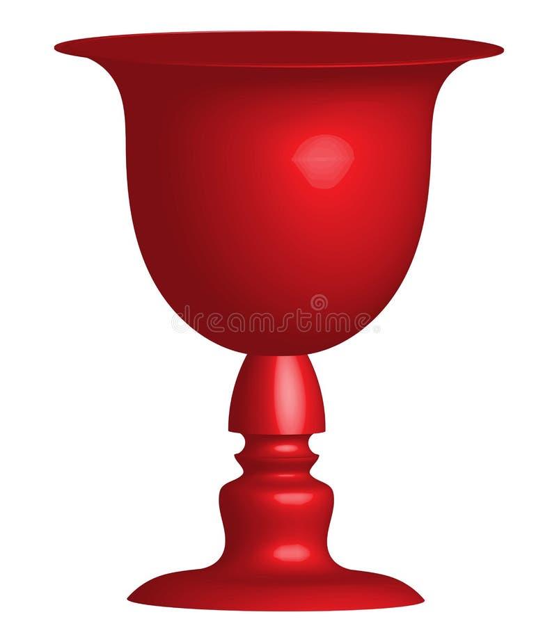 Uma opinião do perfil do vaso ou das duas caras ilustração stock
