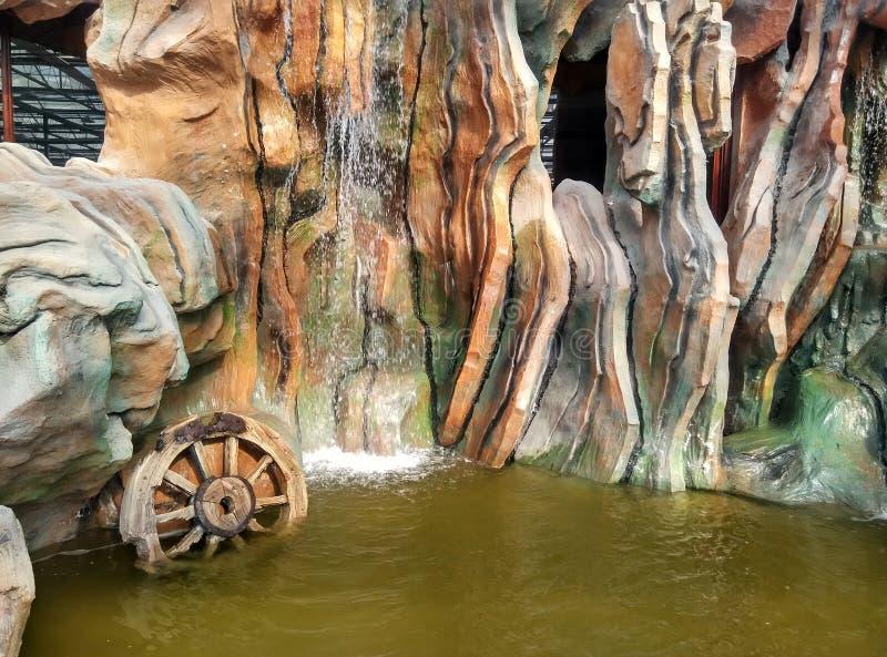 Uma paisagem da cachoeira fotos de stock