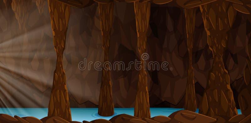 Uma paisagem da caverna do mistério ilustração stock