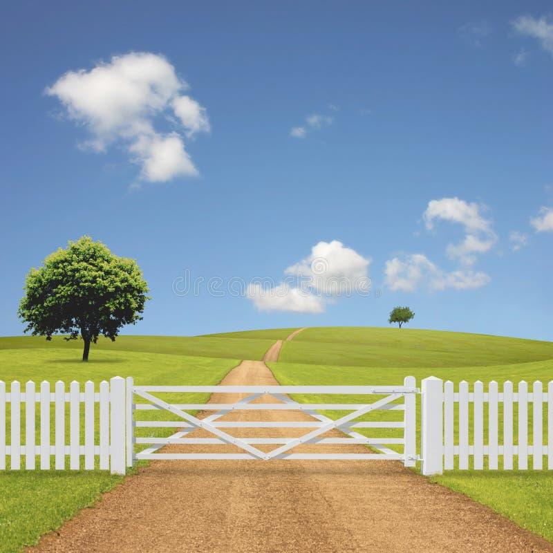Uma paisagem do país imagem de stock royalty free