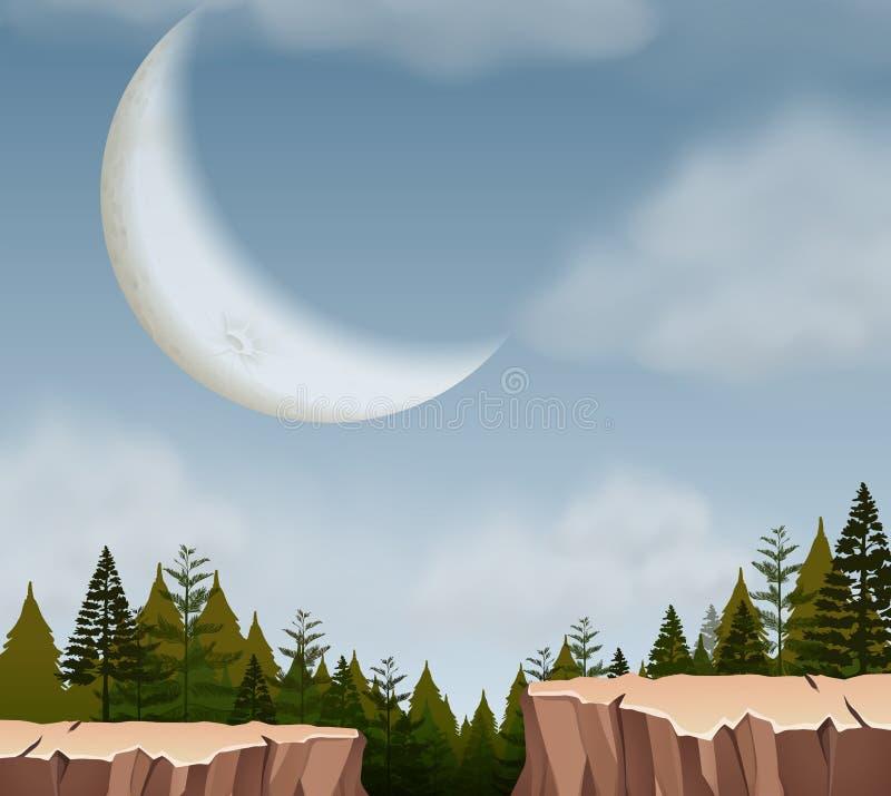 Uma paisagem do penhasco da natureza ilustração stock