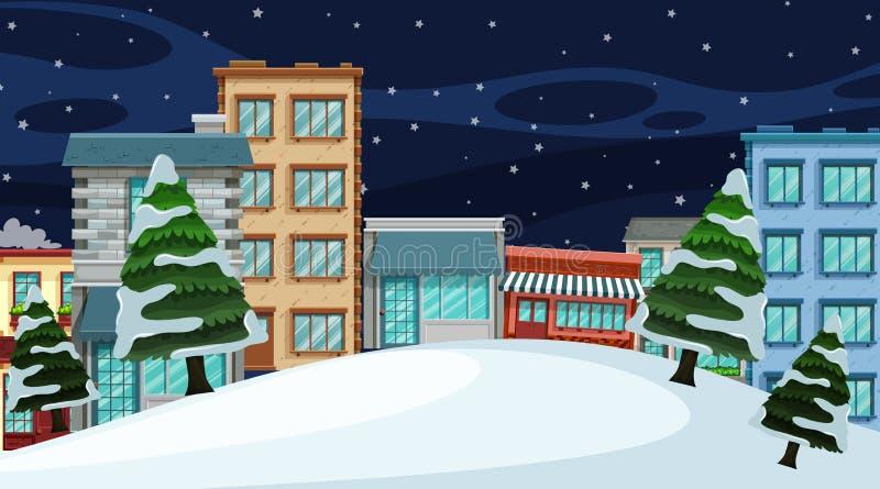 Uma paisagem urbana da cidade ilustração stock