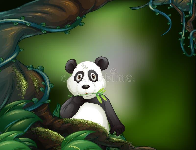 Uma panda na selva ilustração do vetor