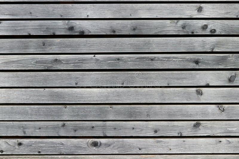 Uma parede de madeira cinzenta imagens de stock