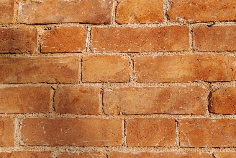 Uma parede de tijolo marrom exterior fotografia de stock