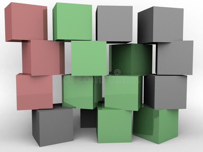 Uma parede dos blocos ilustração do vetor