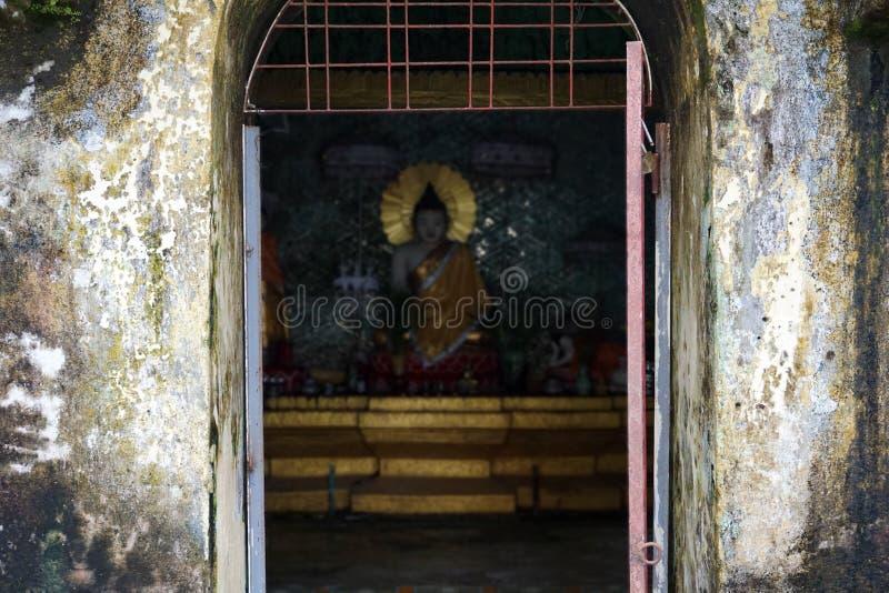 Uma parte da estátua de buddha imagem de stock royalty free