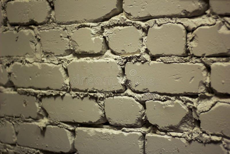 Uma parte da parede do tijolo branco fotografia de stock royalty free