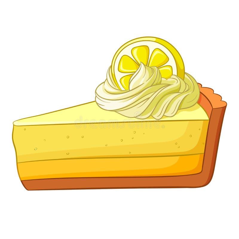 Uma parte de bolo do limão Ilustração do vetor ilustração do vetor