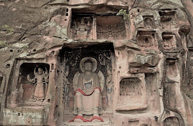 Uma parte de mil penhascos da Buda fotos de stock