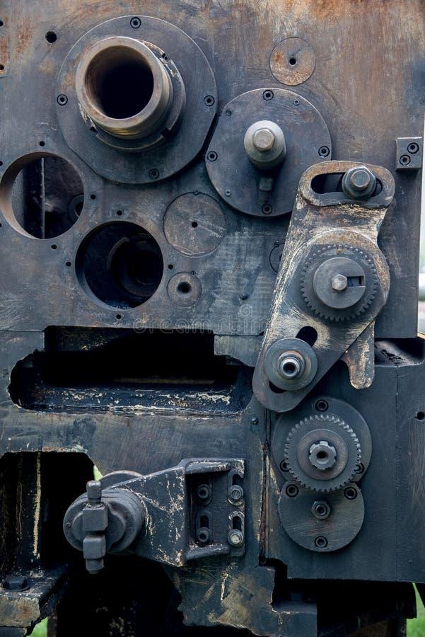 Uma peça da máquina-instrumento oxidada velha indicou foto de stock royalty free