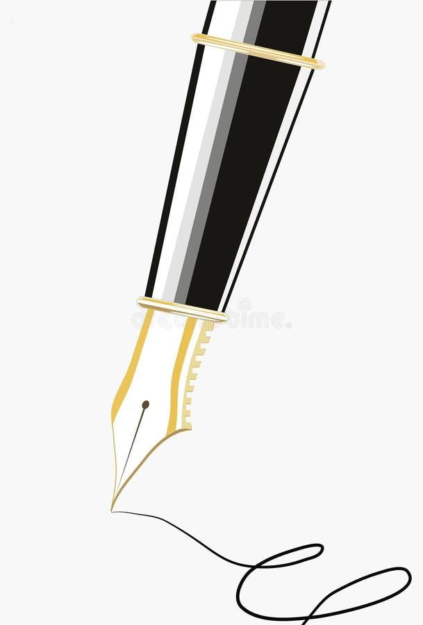 Uma pena da tinta de escrita ilustração do vetor