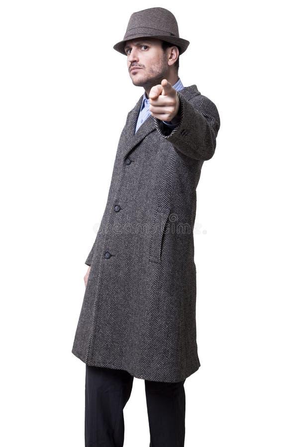 Gangster que aponta em você foto de stock
