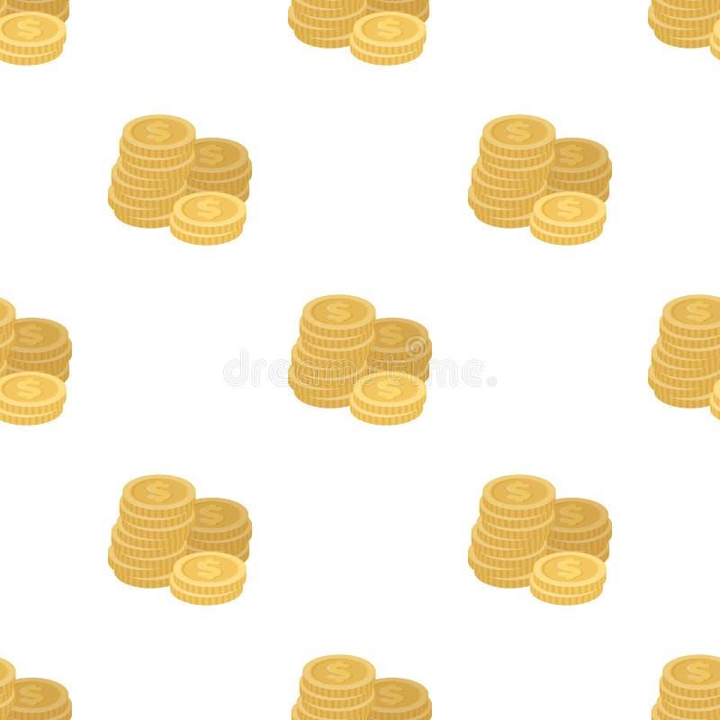 Uma pilha das moedas para contar em um casino gambling Único ícone de Kasino na ilustração do estoque do símbolo do vetor do esti ilustração do vetor