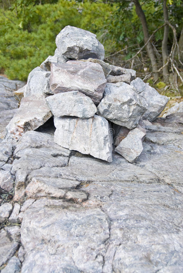 Uma pilha das rochas fotos de stock