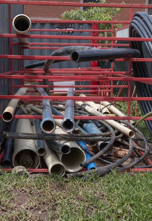 Uma pilha das tubulações fotografia de stock royalty free