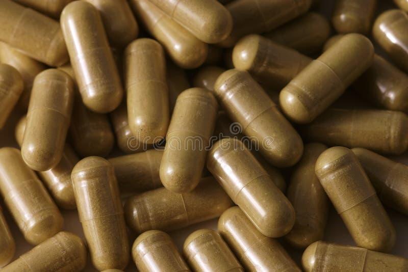 Uma Pilha De Cápsulas Farmacêuticas Genéricas Imagens de Stock