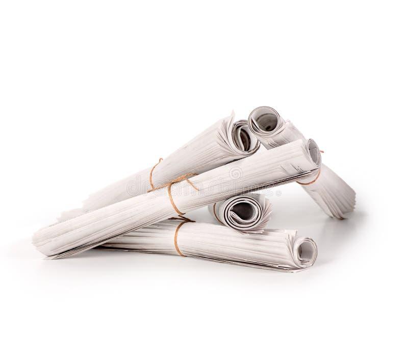 Uma pilha de jornais dobrados ilustração royalty free