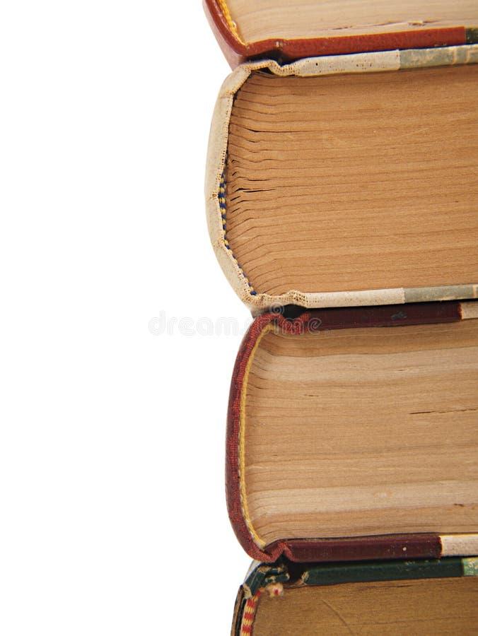 Uma pilha de livros isolados fotos de stock royalty free