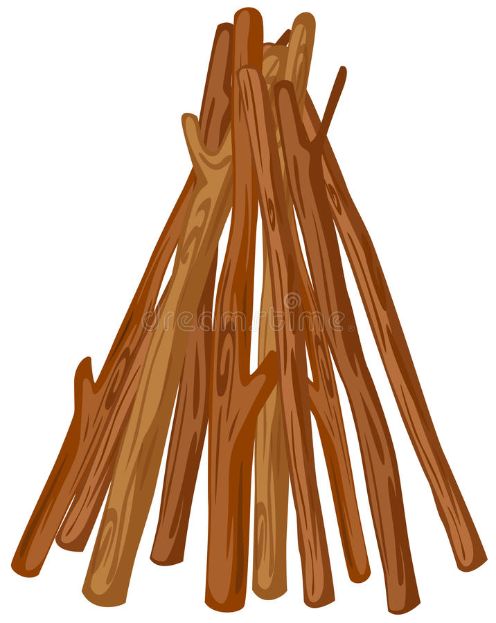 Uma pilha de madeira ilustração royalty free