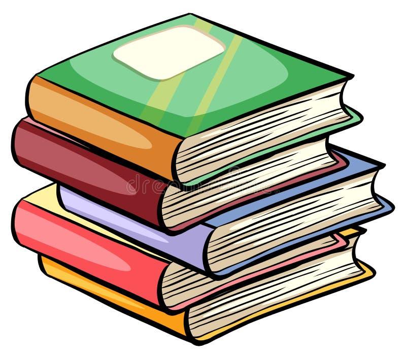 Uma pilha dos livros ilustração royalty free