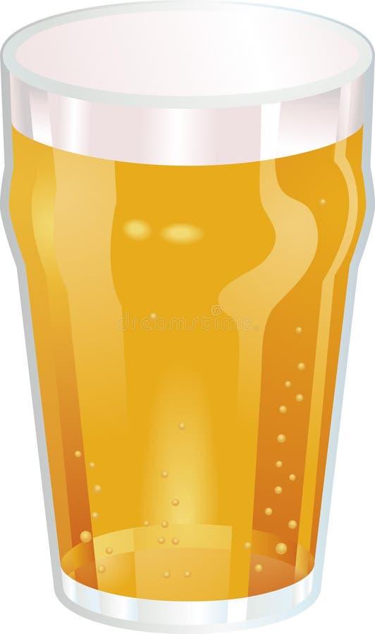Uma pinta agradável do mal do vetor da cerveja ilustração stock