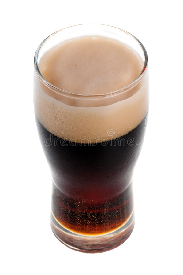 Uma pinta da cerveja de malte isolada foto de stock royalty free