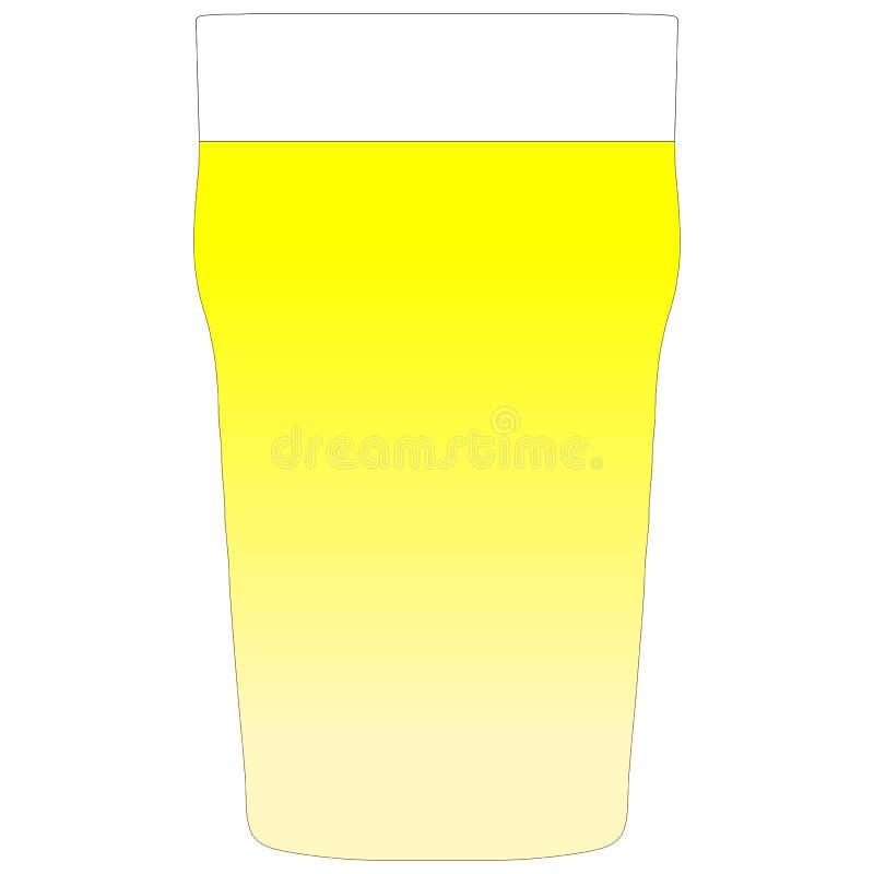 Uma pinta do lager ilustração stock