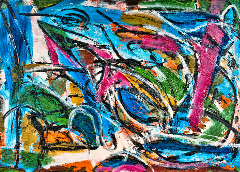 Pintura abstrata fotografia de stock