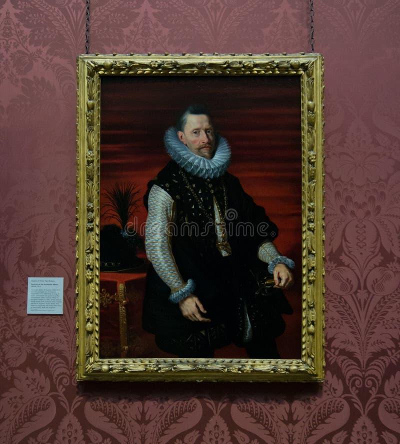 Uma pintura por Peter Paul Rubens no National Gallery em Londres fotos de stock