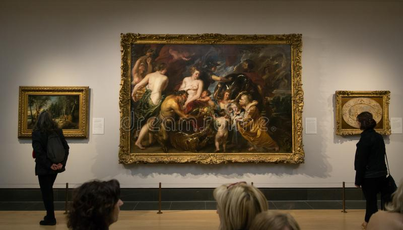 Uma pintura por Peter Paul Rubens no National Gallery em Londres foto de stock