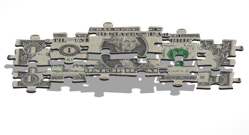 Uma pirâmide do dólar ilustração royalty free
