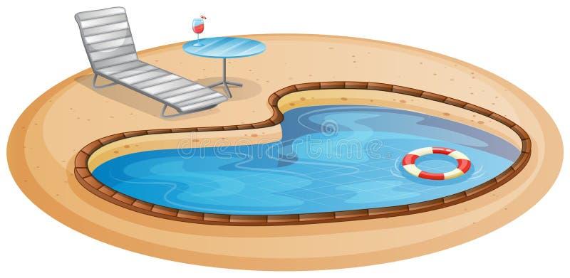 Uma piscina ilustração do vetor