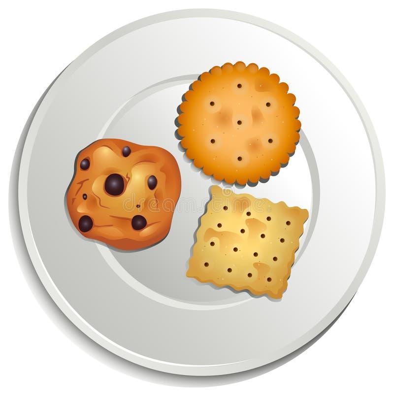 Uma placa com biscoitos ilustração royalty free