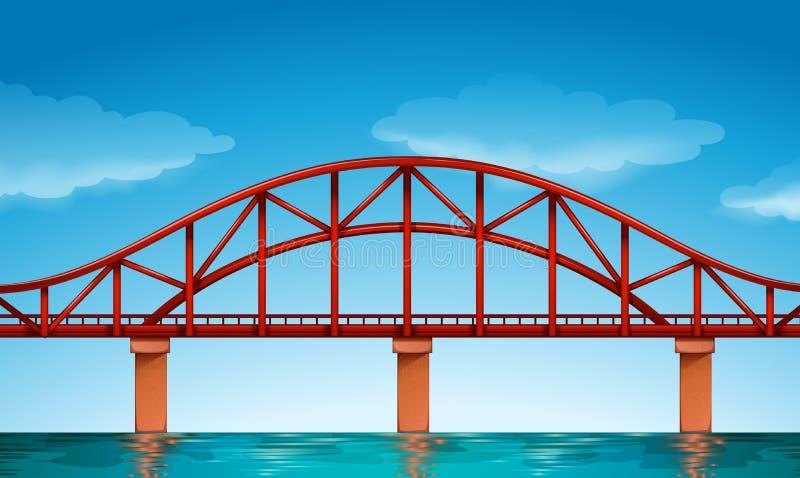 Uma ponte bonita ilustração royalty free