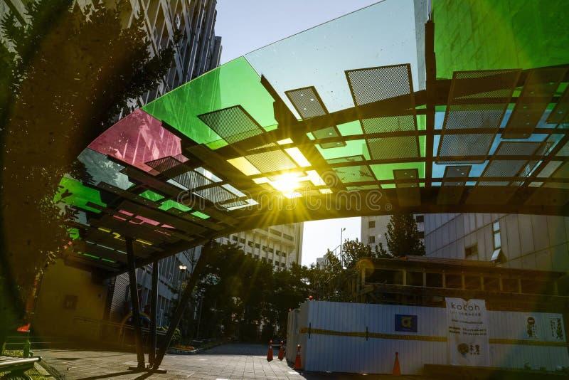 Uma ponte do arco-íris imagem de stock