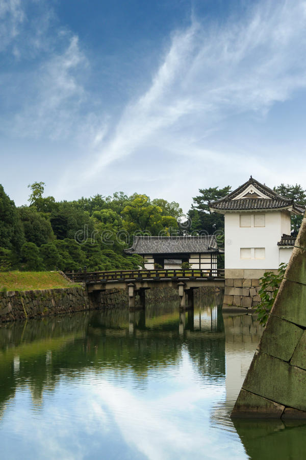 Download Ponte do fosso do castelo foto de stock. Imagem de historic - 29840524