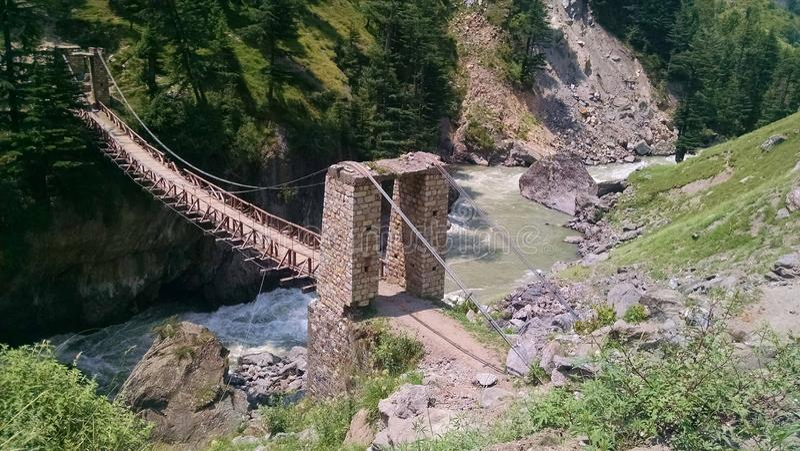 Uma ponte velha foto de stock