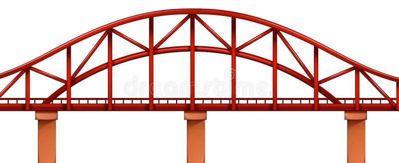 Uma ponte vermelha ilustração stock