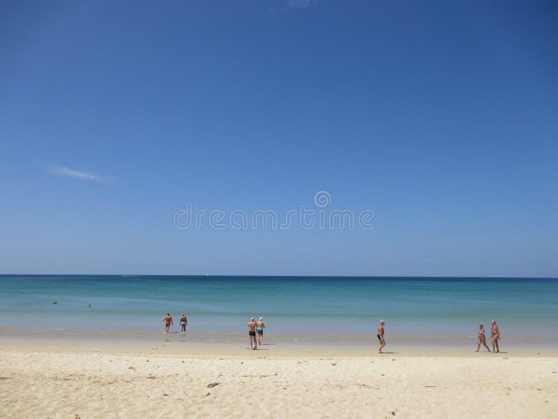 Uma praia imagens de stock royalty free