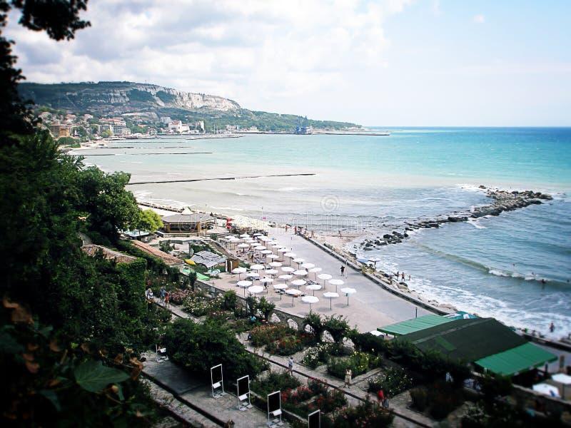 Uma praia em Bulgária foto de stock royalty free