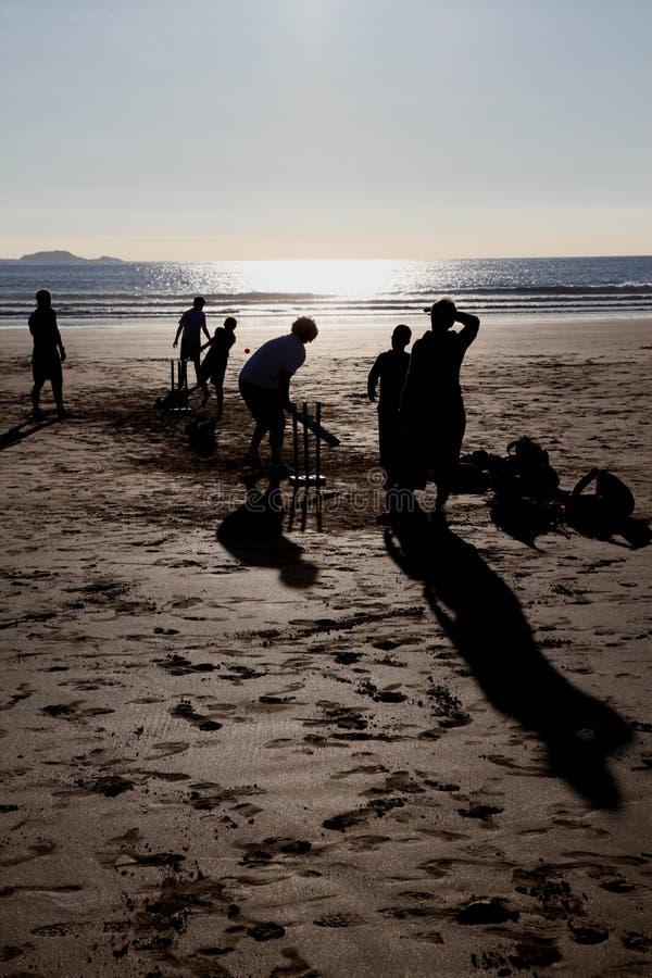 Uma praia inglesa fotos de stock